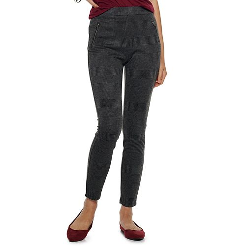 Juniors' Joe B Double Knit Skinny Pants