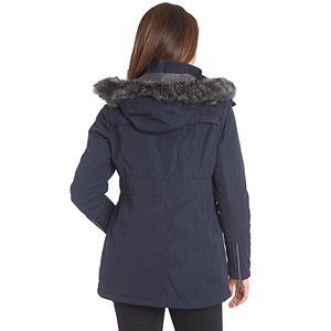 Women's Fleet Street Faux-Fur Trim Midweight Puffer Jacket