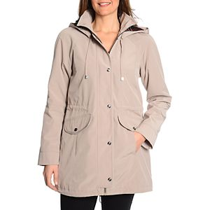 Women's Fleet Street Hooded Faux-Silk Anorak Jacket