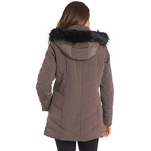 Women's Fleet Street Faux-Fur Hood Quilted Puffer Jacket