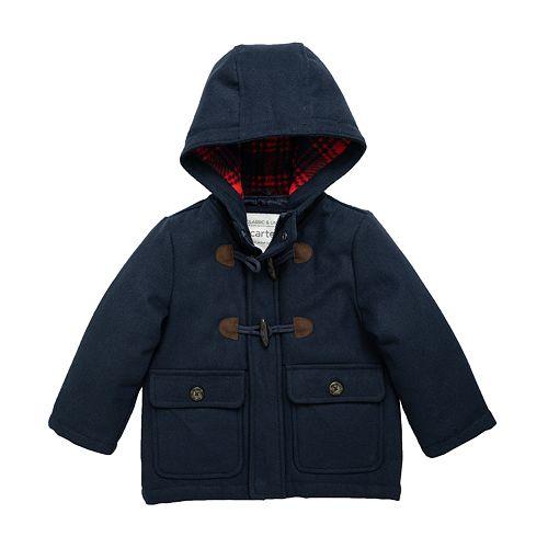 Boys 4-7 Carter's Navy Faux Wool Coat
