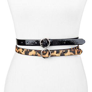 Women's Exact Fit 2 Piece Skinny Waist Belt Set