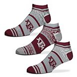 Adult For Bare Feet Texas A&M Aggies 3-Pack Quarter Crew Socks