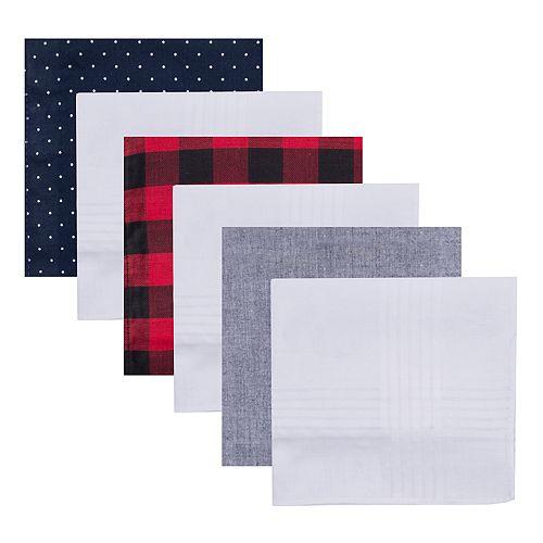 Gift set Colorful Pattern Handkerchiefs for Men 6pc