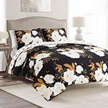 Lush Decor Zinnia Floral Quilt Set