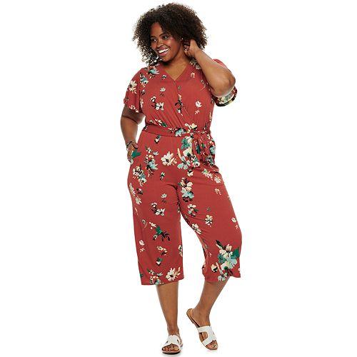 Plus Size EVRI™ Tie Waist Knit Jumpsuit