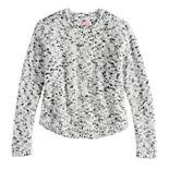 Girls 6-16 & Plus Size SO® Crewneck Textured Popo Sweater