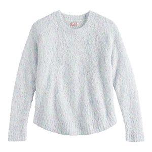 Girls 6-16 & Plus Size SO Crewneck Textured Popo Sweater