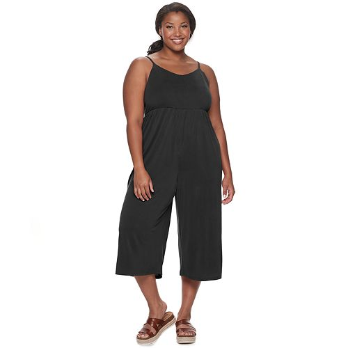 Juniors' Plus Size Mudd® Culotte Jumpsuit