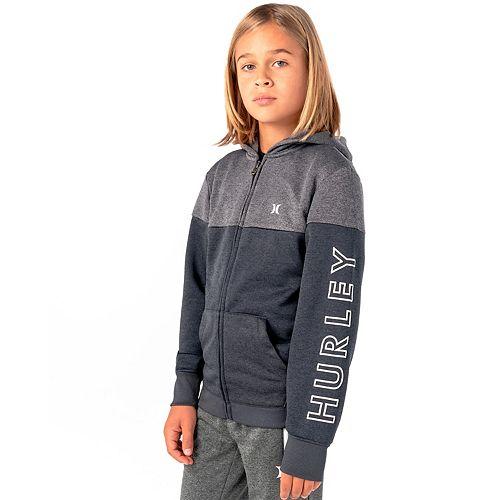 Boys 8-20 Hurley Dri-FIT Solar Colorblock Full-Zip Hoodie