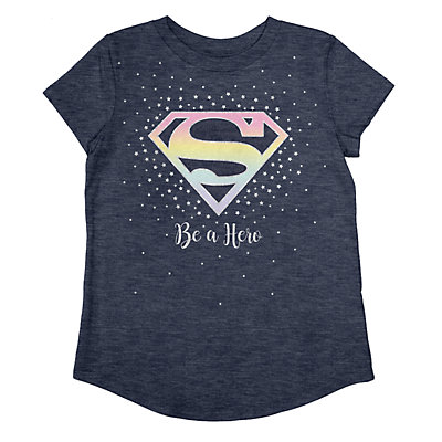 Girls 4-12 Jumping Beans® DC Comics Super Girl Shield Graphic Tee
