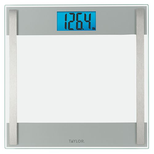 Taylor Glass Digital Bath Scale with Stainless Steel Accents