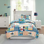 Mi Zone Kids Traveling Trevor Reversible Coverlet Set