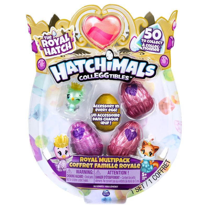 Hatchimals CollEGGtibles, Royal Multipack with 4 Hatchimals and Accessories