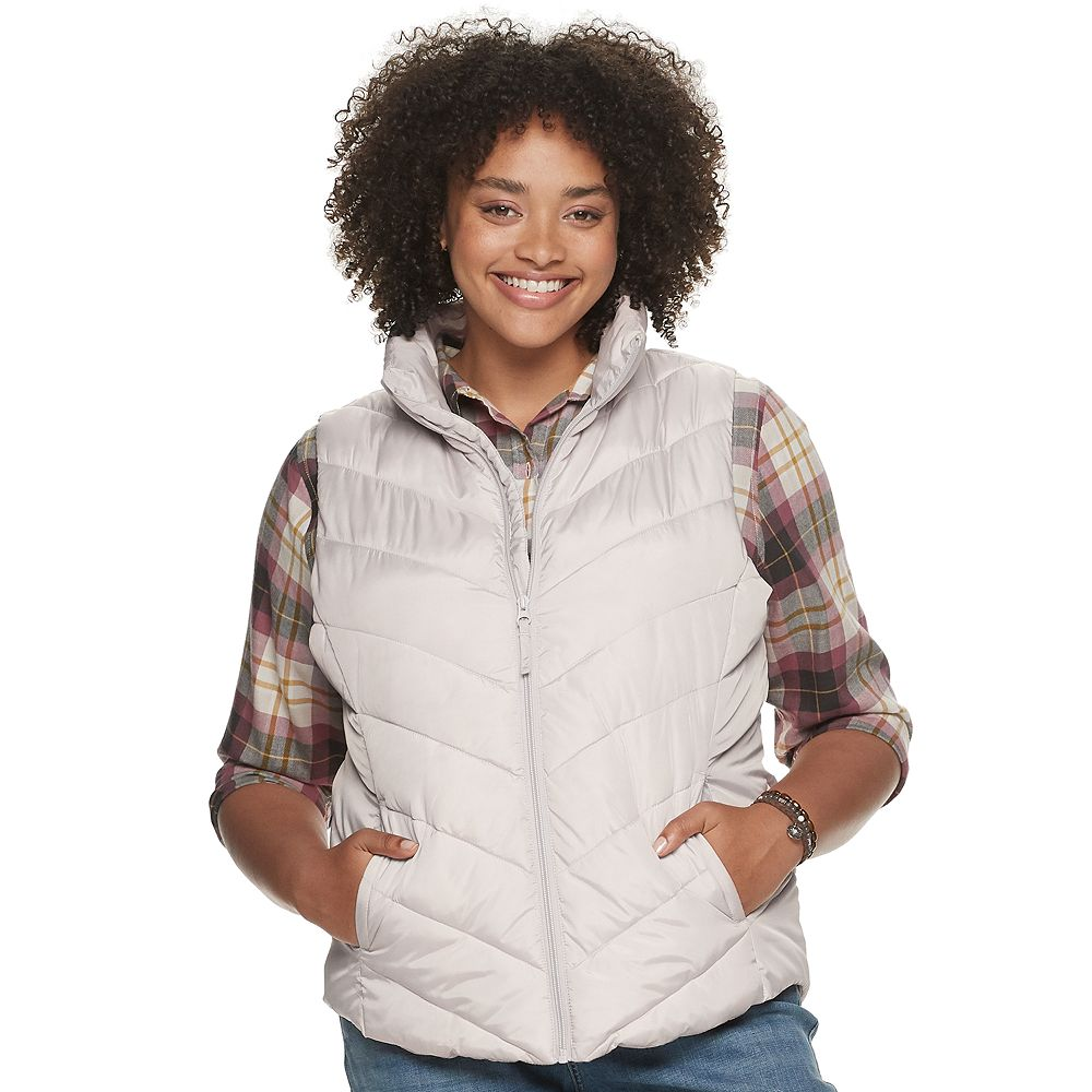 Juniors' Plus Size SO® Color Block Puffer Vest
