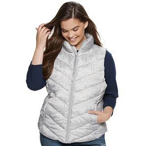 Juniors' Plus Size SO Color Block Puffer Vest