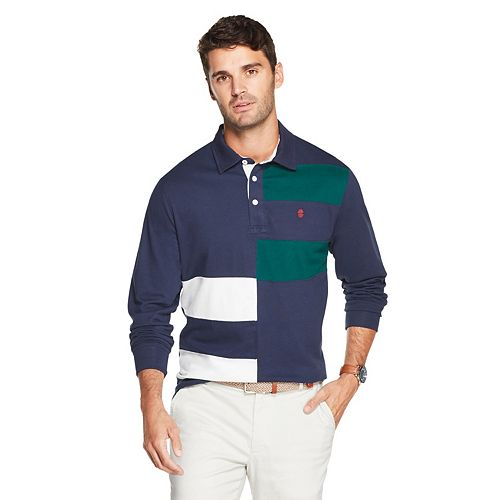 Men's IZOD Sportswear Slim-Fit Striped Rugby Polo
