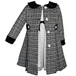Girls 4-6x Blueberi Boulevard 2-Piece Tweed Dress & Coat Set