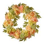 National Tree Company Artificial Cream Peony Wreath