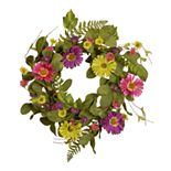 National Tree Company Artificial Spring Flowers Wreath