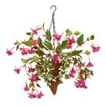 National Tree Company Artificial Fuchsia & Ivy Plant Hanging Basket