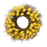 National Tree Company Artificial Yellow Tulip Wreath
