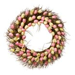 National Tree Company Artificial Pink & Yellow Tulip Wreath
