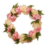 National Tree Company Artificial Pink & White Peony Wreath