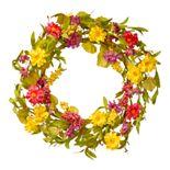 National Tree Company Artificial Multicolor Daisy Wreath