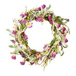 National Tree Company Artificial Purple Floral Wreath