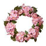 National Tree Company Artificial Pink Hydrangea Wreath