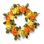 National Tree Company Artificial Spring Rose Wreath