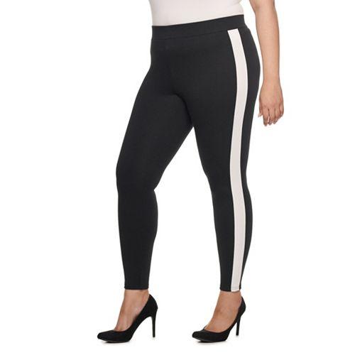 Women's Utopia Plus Mid Rise Ponte Tuxedo Legging