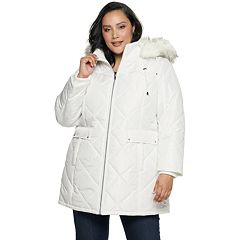 de74a957393 Womens White Puffer & Quilts Coats & Jackets - Outerwear, Clothing ...
