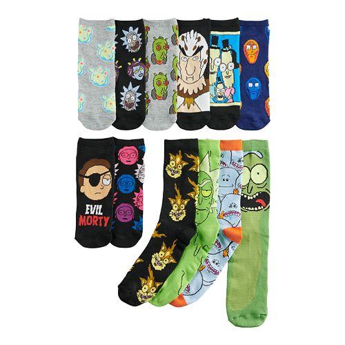 Men's 12 Days of Socks - Rick & Morty