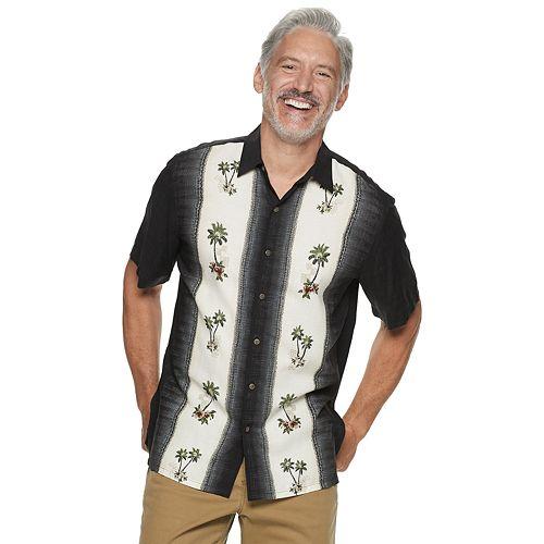 Men's Batik Bay Patterned Button-Down Shirt