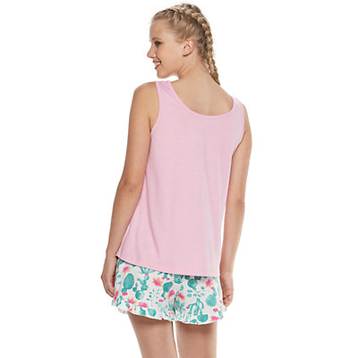 Junior's Peace, Love & Dreams Sleep Tank & Boxer Shorts Set