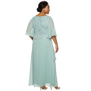 Plus Size Le Bos Scallop Embroidered Tier Dress