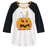 Girls 7-16 Peanuts Snoopy Great Pumpkin Halloween Graphic Tee