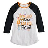 "Girls 7-16 JoJo Siwa ""I'm Just Here for the Treats"" Halloween Graphic Tee"