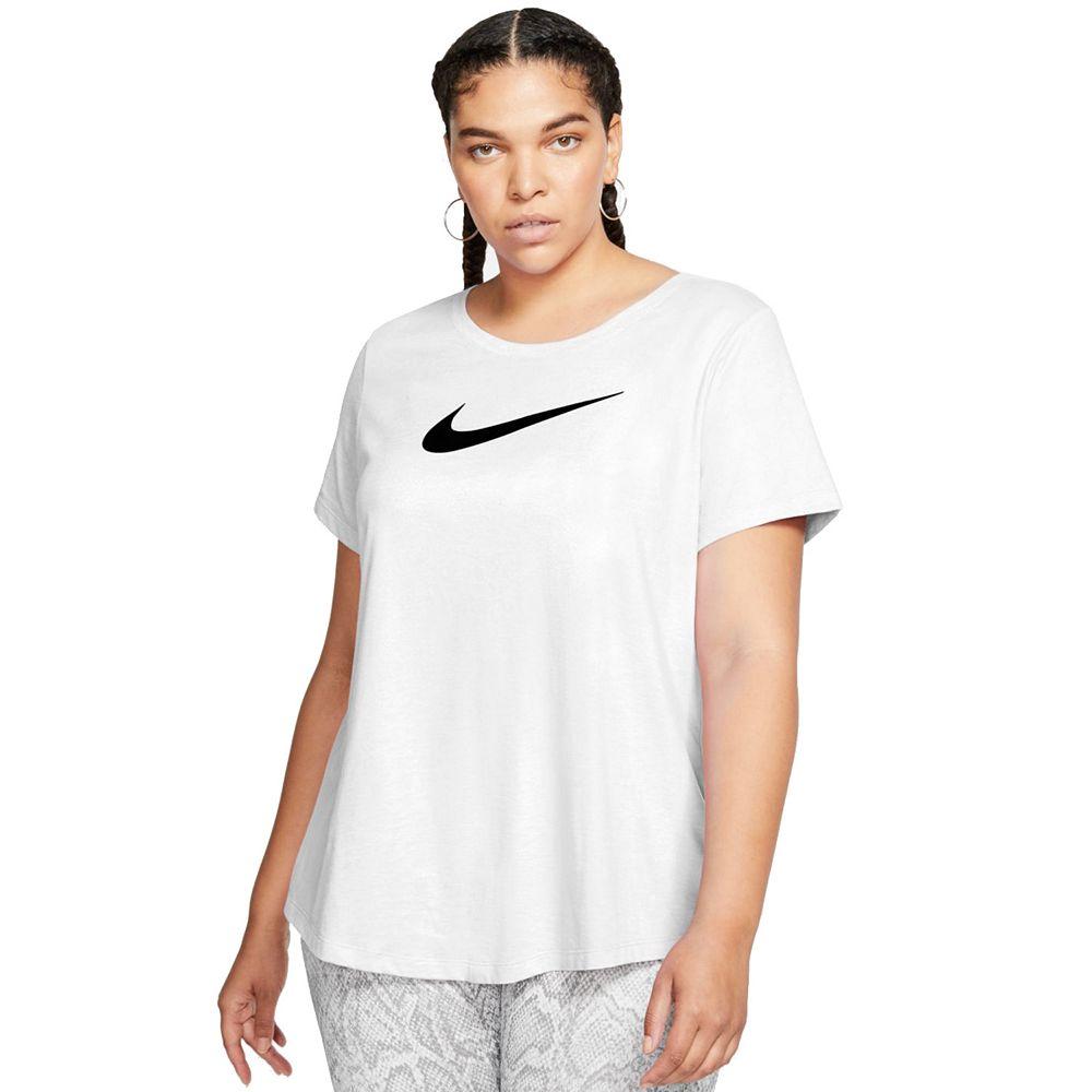 Plus Size Nike Dri-FIT Training Swoosh Logo Tee