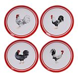 Certified International Homestead Rooster 4-pc. Dinner Plate Set