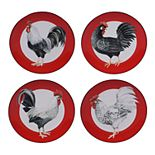 Certified International Homestead Rooster 4-pc. Salad Plate Set
