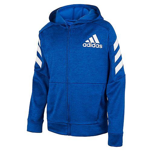 Boys 8-20 adidas Hooded Melange Fleece Jacket