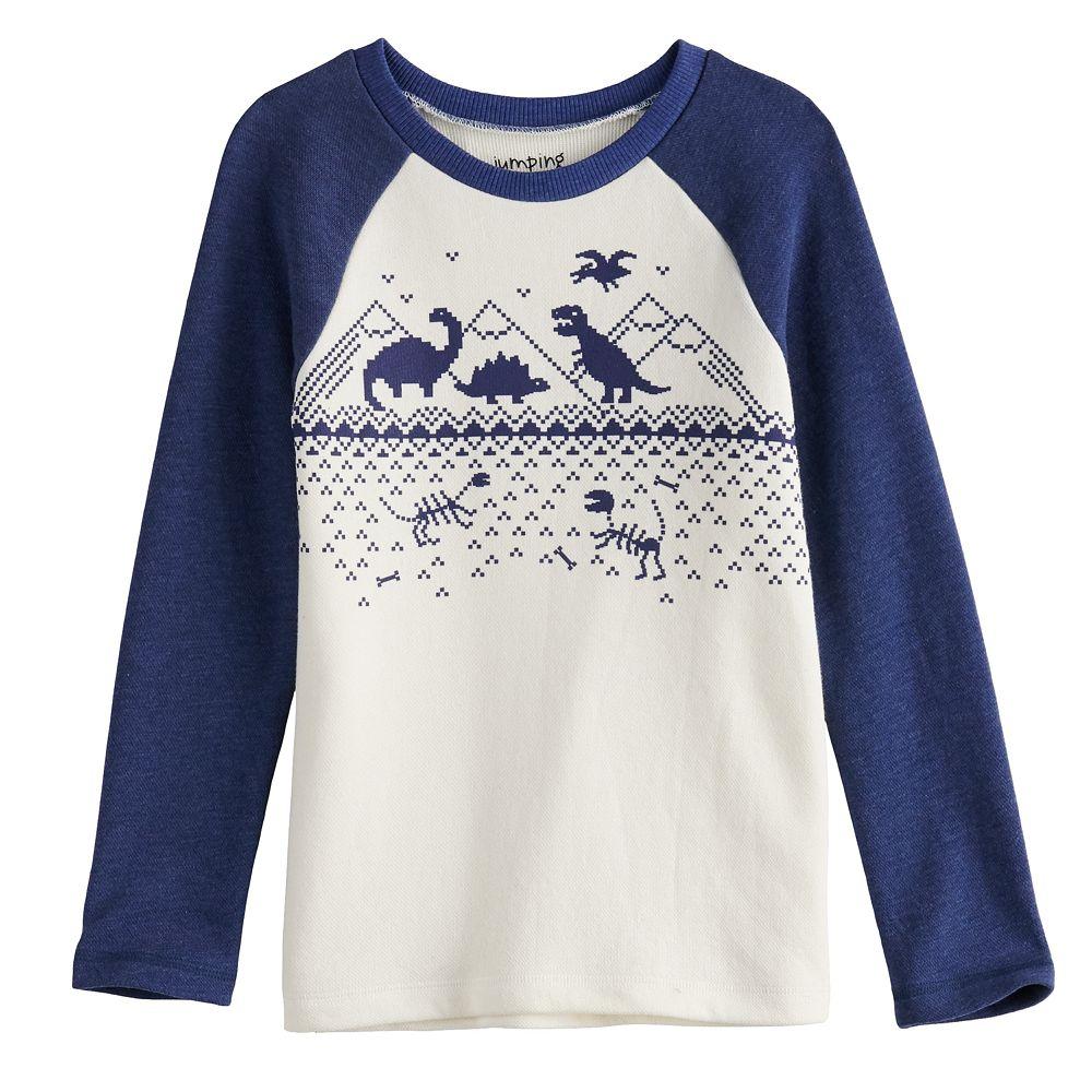 Boys 4-12 Jumping Beans® Fairisle Dinosaur Graphic Tee