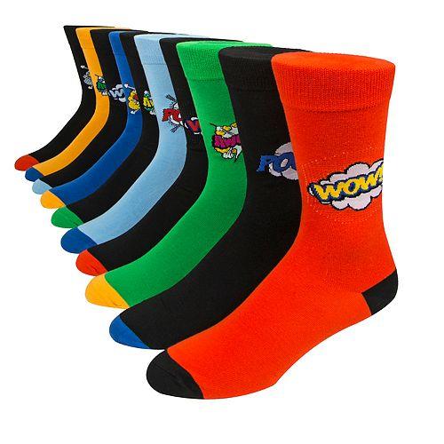Men's Nick Graham 10-pack Pop Art Crew Socks