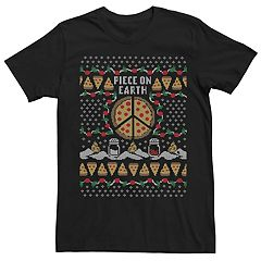 bd253d5ec29f Men's Pizza Piece On Earth Ugly Christmas Graphic Tee