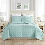 Ultra Soft Dotted Embroidered Quilt set