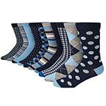 Men's Nick Graham 10-Pack Modern Crew Dress Socks