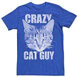 Men's Crazy Cat Guy Graphic Tee